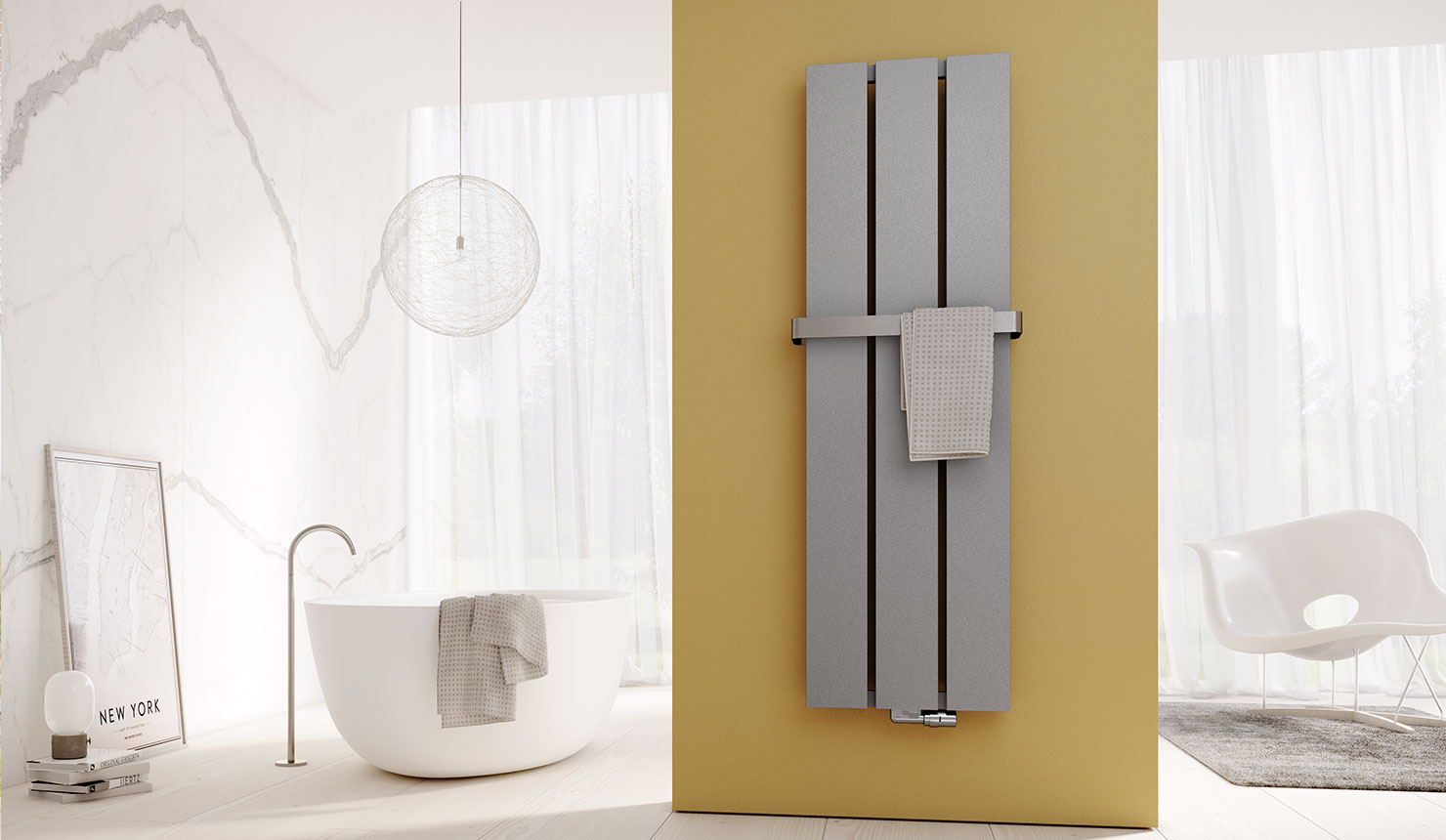 Kermi design radiator Decor-Arte Plan in a clear shape and with consistent lines