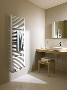 Kermi Duett design and bathroom radiator - classic bathroom heating design with double power