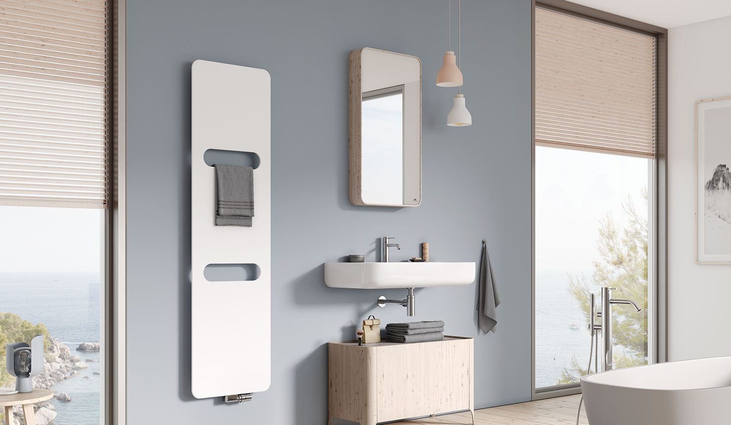Kermi design radiator Fineo – aluminium radiator Ultra-thin design.
