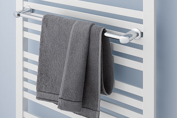 Towel rail for Kermi Geneo quadris design and bathroom radiator
