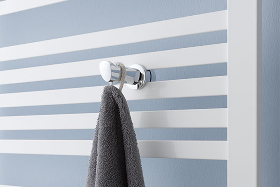 Towel hook for Kermi Geneo quadris design and bathroom radiator