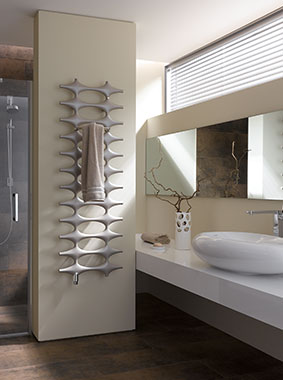Kermi Ideos design and bathroom radiator in modern bathroom