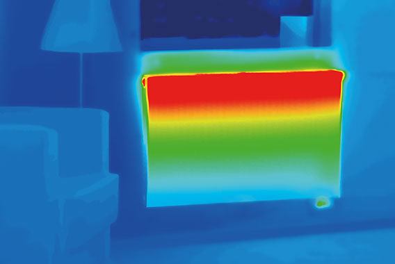 Thermal image of Kermi therm-x2 Technik heating panel