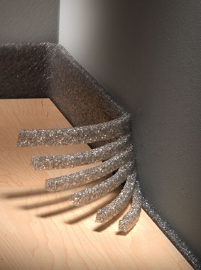 Kermi x-net C15: multiple tear-off perforations for fast tool-free shortening of edge insulation strip