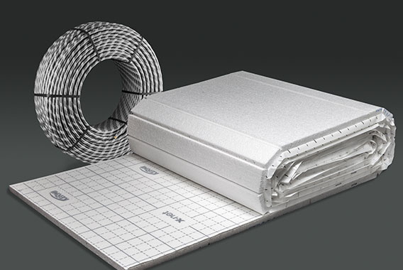 Kermi x-net C17: hook and loop insulation and hook and loop pipe