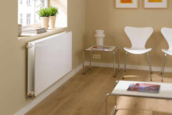 Kermi steel panel radiators therm-x2 Plan-K / -V / -Vplus hygiene radiator for a dust-reducing climate