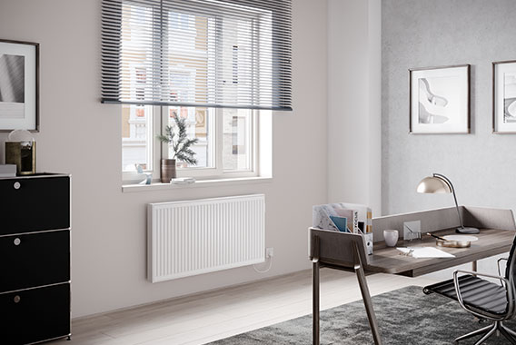 Kermi x-therm e steel panel radiators for a retro look in your living room