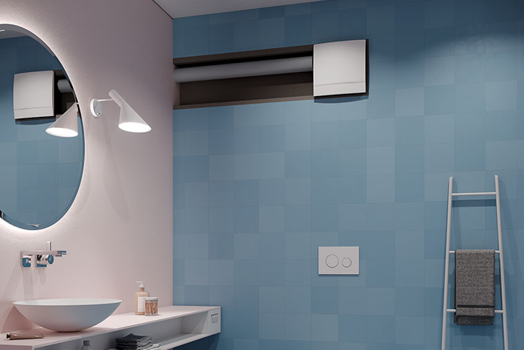 Kermi decentralised residential ventilation x-well A20 / A21. Perfect for internal bathrooms.