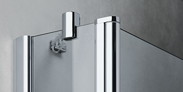 Kermi shower enclosures - Diga - Detailed picture: wall profile and wall support