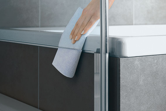Kermi shower enclosure - Diga - Detailed picture: cleaning