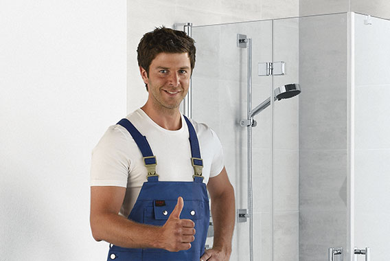 Kermi shower enclosures - Diga - Installation