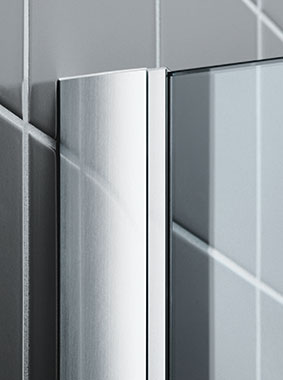 Kermi shower enclosure - Filia XP - Detailed picture: wall profile