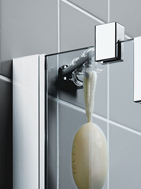 Kermi shower enclosure - Filia XP - Detailed picture: wall profile and wall support