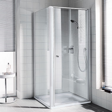 Kermi shower enclosure - Ibiza 2000 - Hinged door with side panel
