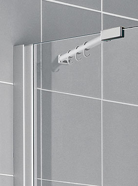 Kermi shower enclosure - Ibiza 2000 - Detailed picture: wall profile and wall support