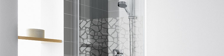 KermiEXTRA - Raya shower enclosure with Stone decor - Detailed picture