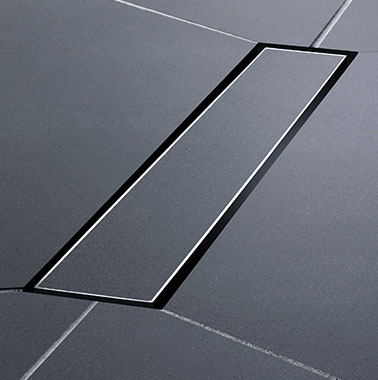 Kermi wet floor system Line - Detailed picture (cover tiled)