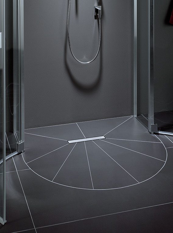 Line Shower Board System Wet Floor System Of The Future