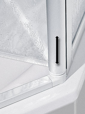 Kermi shower enclosure - Nova 2000 - detailed picture: functions