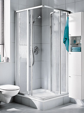 Kermi shower enclosure - Nova 2000 - Corner entry