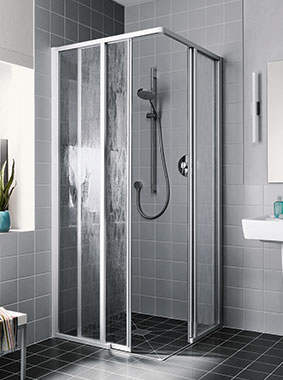 Kermi shower enclosure - Nova 2000 - Two part corner entry