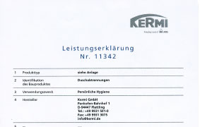 Kermi declaration of performance
