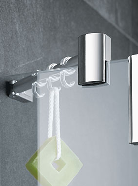 Kermi shower enclosure - Pasa XP - Detailed picture: fittings