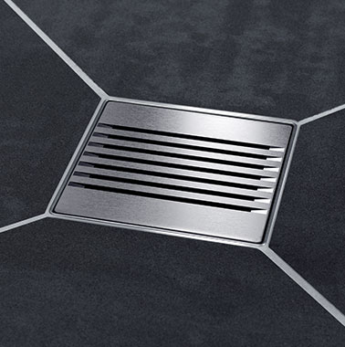 "Kermi wet floor system - ""Exclusive"" discharge"