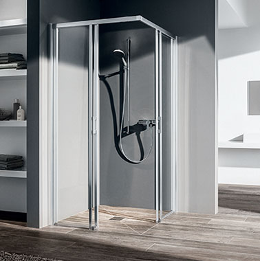 Kermi shower enclosure Liga on Point wet floor system
