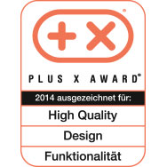Plus X Award - High Quality - Design - Functionality - 2014