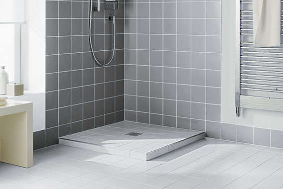 Kermi wet floor system Point - perfect for renovation