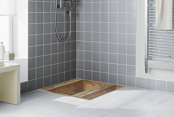 Wet floor system - installation options - Kermi | {Duschboden holz 39}