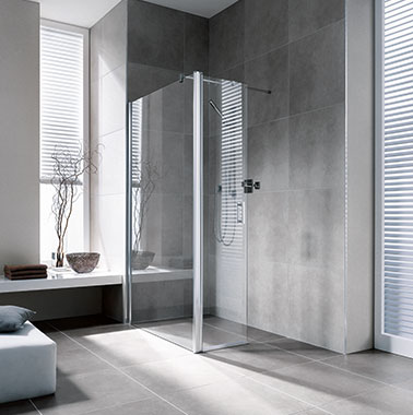 Kermi Walk-In series models Diga WALL with movable panel