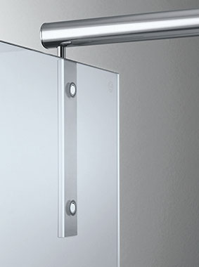 Kermi Walk-In XS FREE with wall support - Detailed picture
